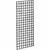 2'W X 5'H - Wire Grid Wall Panel - Chrome - Pkg Qty 3