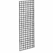 2'W X 6'H - Wire Grid Wall Panel - Chrome - Pkg Qty 3