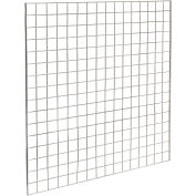 4'W X 4'H - Wire Grid Wall Panel - Chrome - Pkg Qty 3