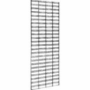 2'W X 7'H - Slatgrid Panel - Semi-Gloss Black - Pkg Qty 3