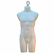 Male Torso Form with Wire Loop - Milky White
