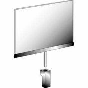 "11""W X 7""H Acrylic Sign Holder W/ 1-1/2"" Swedge Stem - Chrome Clear - Pkg Qty 24"