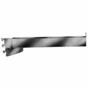 """12"""" Rectangular Tubing Straight Arm For Mounted/Recessed Standard - Satin Chrome - Pkg Qty 24"""