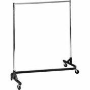 Economy Z-Rack - Square Tubing RZK/8- Chrome Upright & Hangrail - Black Base