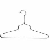 "16"" L Steel Blouse And Dress Hanger W/ Regular Hook - Chrome - Pkg Qty 100"