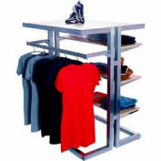 Island Multi-Merchandiser - Frame Only - Satin Chrome