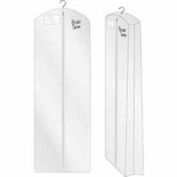 "24"" X 72"", 3 Gauge Vinyl Taffeta W/ Hanging Pocket, Zipper & Side Gusset - White - Pkg Qty 36"