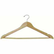 "17"" L Wishbone W/ Chrome Hook And Wooden Bar - Natural - Pkg Qty 100"