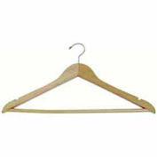 "17"" L Wishbone W/ Satin Chrome Hook And Wooden Bar - Matte Teak - Pkg Qty 100"