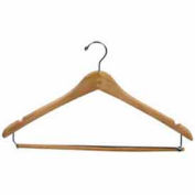 """17"""" L Wishbone W/ Chrome Hook And Wooden Lock Bar On Spring - Natural - Pkg Qty 100"""