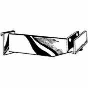 "12""L Hangrail Bracket To Hold Rectangular Tubing - Semi-Gloss White - Pkg Qty 24"