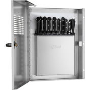 Edlund KLC 994, Locking Knife Cabinet with Integrated KR-699 Knife Rack, Stainless Steel