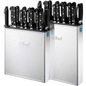 Edlund KR-700 - Knife Rack, Stainless Steel, Wall Mount, Closed Back, 8 Slots