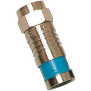 Eclipse Tools 705-002-BU F Connector RG6/U, Blue, 100/Pk
