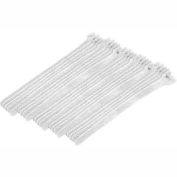 """Eclipse Tools 900-098-WH Cable Tie, Hook Tape, 8""""L x 1/2""""W, White, 25/Pk"""