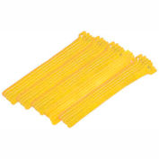 "Eclipse Tools 900-098-YL Cable Tie, Hook Tape, 8""L x 1/2""W, Yello""W, 25/Pk"