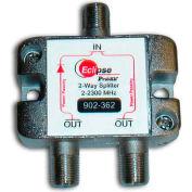 Eclipse Tools 902-362 2 Way Satellite TV Splitter, 2-2300 MHz Bandwidth, 1 Input, 2 Outputs