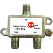 Eclipse Tools 902-369 2 Way CATV Splitter, 5-1000 MHz Bandwidth, 1 Input, 2 Outputs