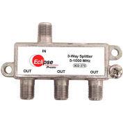 Eclipse Tools 902-370 3 Way CATV Splitter, 5-1000 MHz Bandwidth, 1 Input, 3 Outputs