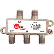Eclipse Tools 902-371 4 Way CATV Splitter, 5-1000 MHz Bandwidth, 1 Input, 4 Outputs