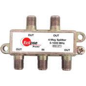 Eclipse Tools 902-371 4 Way CATV Splitter, 5-1000 MHz Bandwidth, 1 Input, 4 Outputs