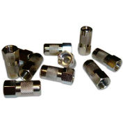 Eclipse Tools 902-383-100 CATV F Connector - Push On RG6, Cable, Metallic, 100/Pk