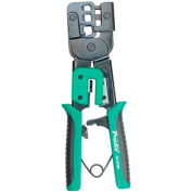 Eclipse Tools CP-376M Modular Plug Crimping Tool, For Use W/4, 6 & 8 Position Plugs, Gray/Blue