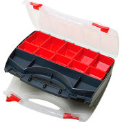"""Eclipse SB-3428SB - Adjustable 8 to 31 Compartment Storage Case, Dual Sided 13-1/2""""Lx11""""Wx -1/2""""H"""