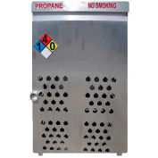 "18 Capacity, 20 Lbs. Cylinders, Aluminum Gas Cylinder Cage, 30""W x 44""D x 68""H, Silver"
