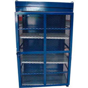 "18 Capacity, 20 Lbs. Cylinders, Heavy Duty Steel Gas Cylinder Cage, 30""W x 44""D x 68"", Blue"