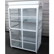 """18 Capacity, 20 Lbs. Cylinders, Heavy Duty Steel Gas Cylinder Cage, 44""""W x 30""""D x 70""""H, White"""