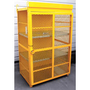 "18 Capacity, 20 Lbs. Cylinders, Heavy Duty Steel Gas Cylinder Cage, 44""W x 30""D x 70""H, Yellow"