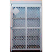 "12 Capacity, 30 Lbs. Cylinders, Heavy Duty Steel Gas Cylinder Cage, 30""W x 44""D x 68""H, White"