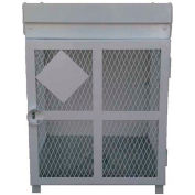 4-20 Lbs, 4-30 Lbs, 2-33 Lbs, or 2-100 Lbs, Combination Heavy Duty Steel Gas Cylinder Cage, White