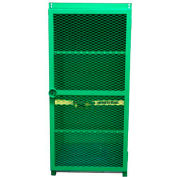 "12 Capacity, 100 Lbs. Cylinders, Heavy Duty Steel Gas Cylinder Cage, 34""W x 44""D x 72""H, Green"