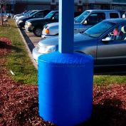"Light Pole Guard Base Cover LPGBLUE, 26""Dia. X 41-1/4""H, 4 Rings, Blue"