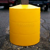 """Light Pole Guard Base Cover LPGRED, 26""""Dia. x 41-1/4""""H, 4 Rings, Red"""