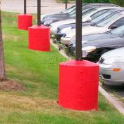 "Light Pole Guard Base Cover LPGYELLOW, 26"" Dia. x 41-1/4""H, 4 Rings, Yellow"