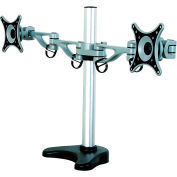 "GForce® Tilting Double Desktop Mount for Most 10""-24"" Flat Panels Dual Arm"