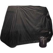 Eevelle 2 Passenger Universal Golf Cart Storage Cover, Black - GLCB02