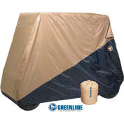 Eevelle GreenLine 2 Passenger Golf Cart Storage Cover, Blue/Tan - GLCR02BL