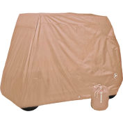 Eevelle 2 Passenger Universal Golf Cart Storage Cover, Tan - GLCT02