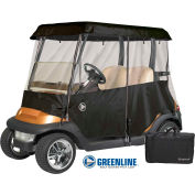 Eevelle 2 Passenger Drivable Golf Cart Enclosure, Jet Black - GLEB02