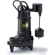 Eco-Flo ECD33V Submersible Sump Pump, Cast Iron, 1/3 HP, 3300 GPH