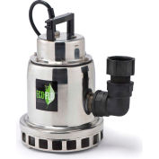 Eco-Flo SEP50M Submersible Water Fall Fountain Pump, Stainless Steel, 1/2 HP