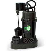 Eco-Flo SPP50V Submersible Sump Pump, Thermoplastic, 1/2 HP, 58 GPM