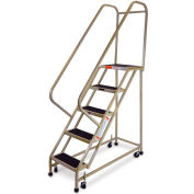 "EGA Steel Office Ladder 5-Step, 16"" Wide Vinyl Covered, Almond, 450 lb. Cap. - F008"