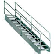 """EGA Steel Industrial Stairway 5-Step, 36"""" Wide Grip Strut, Gray, 500 lb. Cap. - IS42-36KD"""
