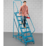 EGA 360° Rotating Ladder 14-Step 60° Incline Perforated, Blue 450Lb. Capacity - K008