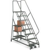EGA Stock Picking Ladder 9-Step Perforated, Gray 450Lb. Capacity - P004